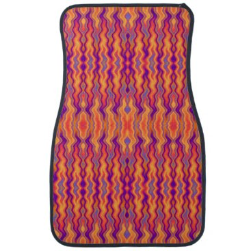 linda_mn Purple Orange Flames Abstract Car Mat