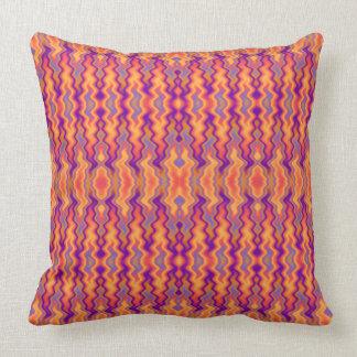Purple Orange Flames Abstract Throw Pillow