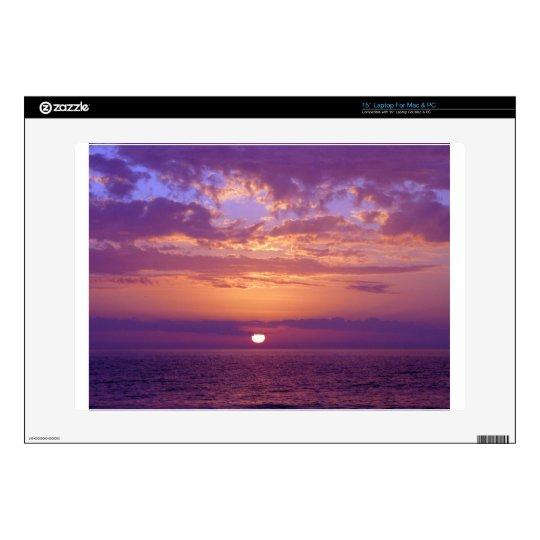 Purple Orange Florida Sunset Decals For Laptops