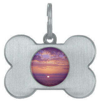 Purple Orange Florida Sunset Pet Name Tags