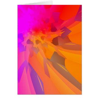 Purple/Orange Flower Greeting Card