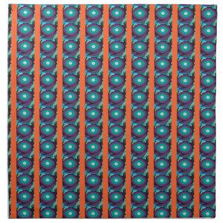 Purple Orange Green Pod Printed Napkins