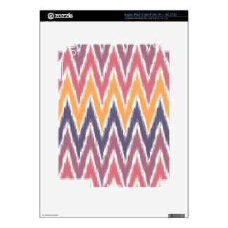 Purple Orange Ikat Chevron Zig Zag Stripes Pattern iPad 3 Skins