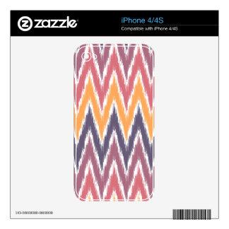 Purple Orange Ikat Chevron Zig Zag Stripes Pattern iPhone 4S Decal