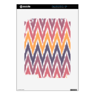 Purple Orange Ikat Chevron Zig Zag Stripes Pattern Skin For iPad 2