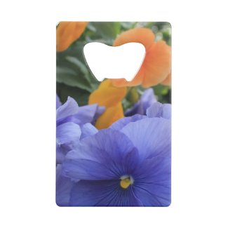 Purple & Orange Pansies w/ Green Floral Photo 4810