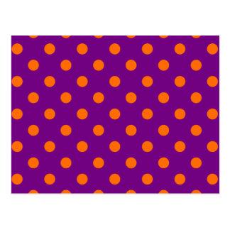 Purple Orange Polk-a-dots Postcard