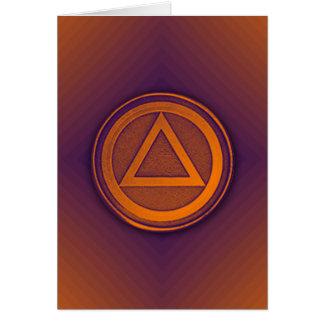 Purple Orange Sober Sobriety Recovery AA Card