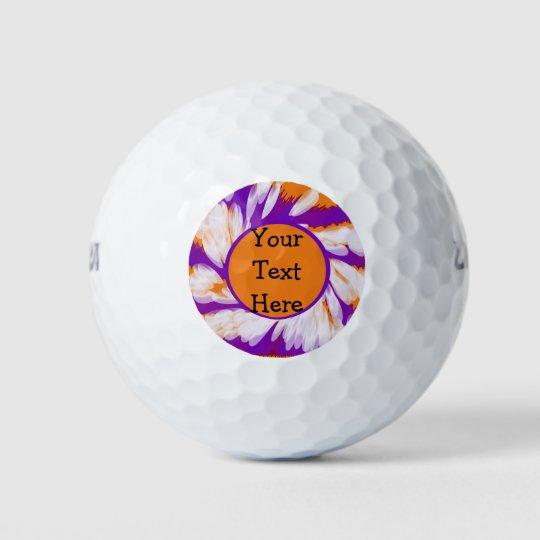 Purple Orange Tie Dye Swirl Golf Balls Zazzlecom