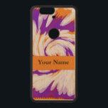 "Purple Orange Tie Dye Swirl Wood Nexus 6P Case<br><div class=""desc"">Colorful twirl of Purple,  Orange and white,  creates a bold unique tie dye effect. Inspired by the 1960s hippy era. Fun Tiedye swirl abstract art. Bright Mod colors in this multicolor design.</div>"