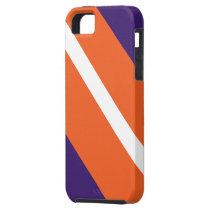 Purple Orange White Striped IPhone 5 Case