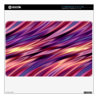 Purple orange yellow sunset stripes skin for MacBook air