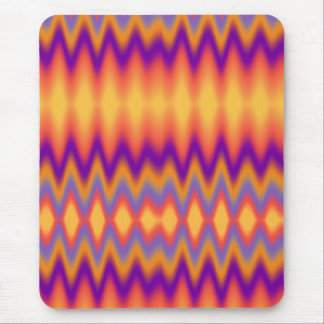Purple Orange Zig Zag Abstract Mouse Pad