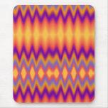 Purple Orange Zigzag Mouse Pads