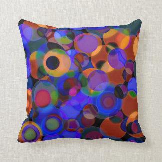 Purple Orbs Throw Pillow