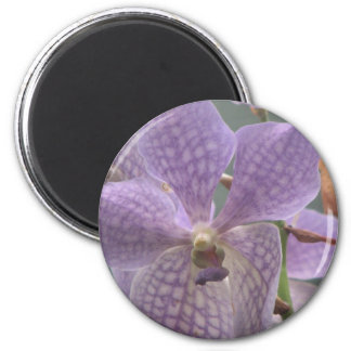 Purple Orchid 2 Inch Round Magnet