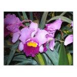 Purple Orchid 4.25x5.5 Paper Invitation Card