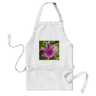 purple orchid adult apron