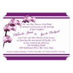 """Purple Orchid and Stripes 5"""" X 7"""" Invitation Card"""