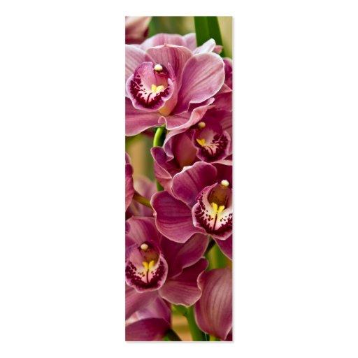 Purple Orchid Bookmark Mini Business Card