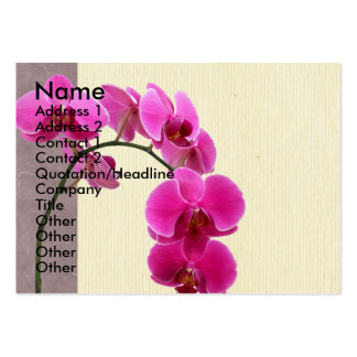 Purple orchid large business cards (Pack of 100)