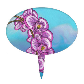 Purple Orchid Cake Topper