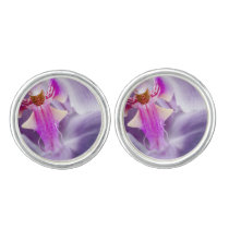 Purple Orchid Cufflinks