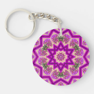 Purple Orchid Delight Reflections Acrylic Keychain