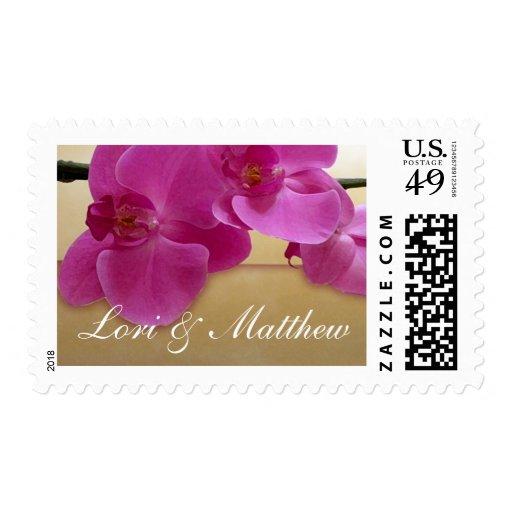 Purple Orchid Design Postage Stamp