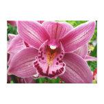 Purple Orchid Elegant Floral Photo Canvas Print