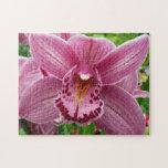 Purple Orchid Elegant Floral Photo Jigsaw Puzzle