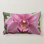 Purple Orchid Elegant Floral Photo Lumbar Pillow