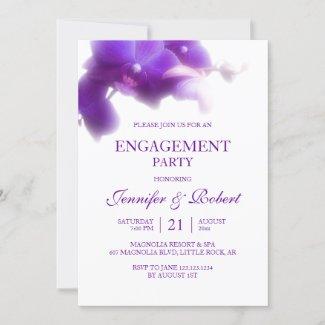 Purple Orchid Engagement Invitation