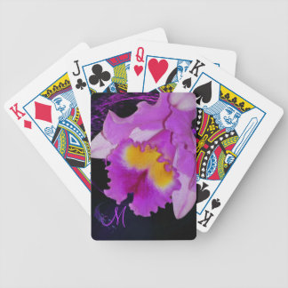 Purple Orchid flower Bicycle Playing Cards