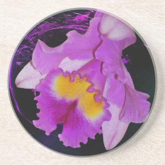 Purple Orchid flower Coaster