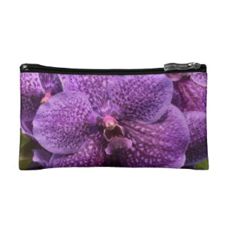 Purple Orchid Flower Graphic Cosmetic Bag