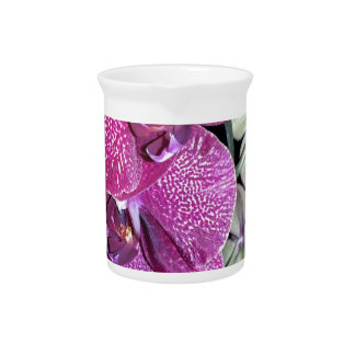 Purple Orchid Flower Drink Pitcher