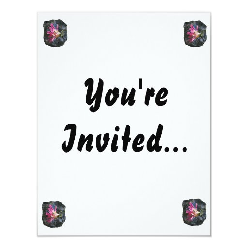 Purple orchid flower tree n sky rock background 4.25x5.5 paper invitation card