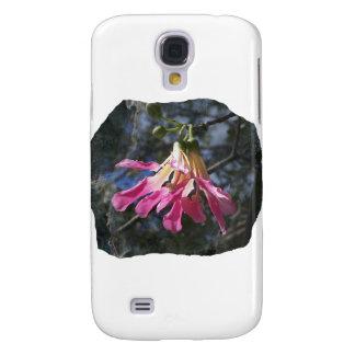 Purple orchid flower tree n sky rock background galaxy s4 cases