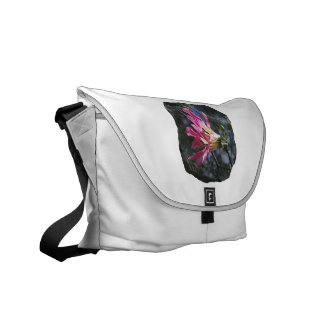 Purple orchid flower tree n sky rock background courier bag