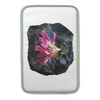 Purple orchid flower tree n sky rock background MacBook sleeve