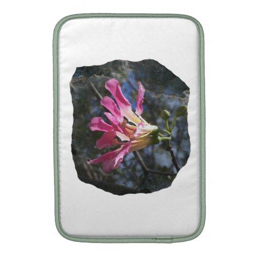 Purple orchid flower tree n sky rock background MacBook air sleeve
