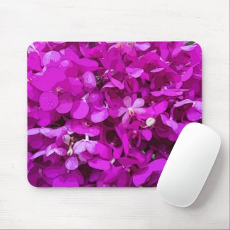 Purple Orchid  flowers watercolor Mouse Pad