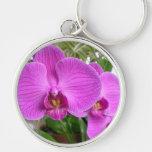 Purple Orchid Keychain