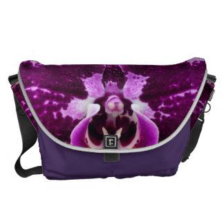 Purple Orchid Messenger Bag