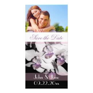 """Purple Orchid  /photo  """"Save the Date"""" Picture Card"""