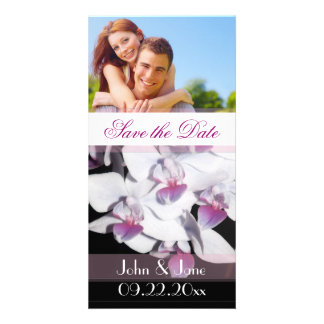 """Purple Orchid  /photo  """"Save the Date"""" Custom Photo Card"""