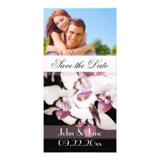"""Purple Orchid  /photo  """"Save the Date"""" Photo Greeting Card"""