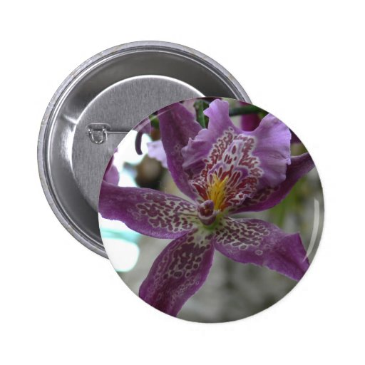 Purple Orchid Pinback Buttons