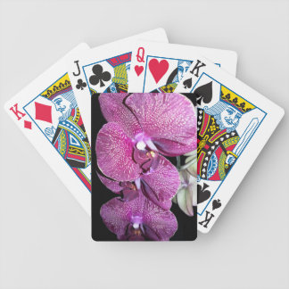 Purple Orchid Bicycle Playing Cards